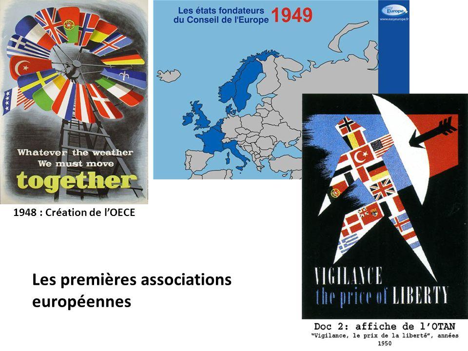 Les premières associations européennes