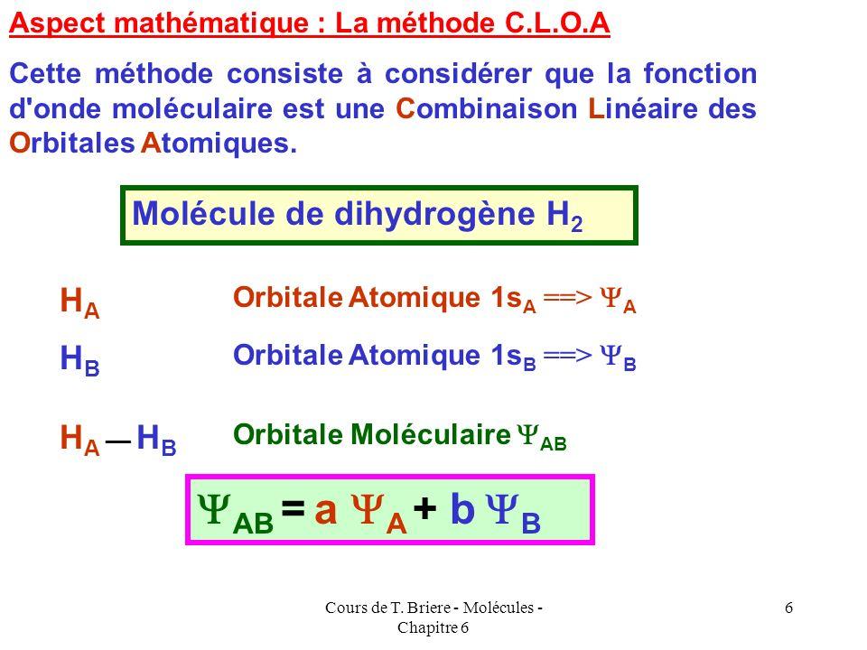 Cours de T. Briere - Molécules - Chapitre 6