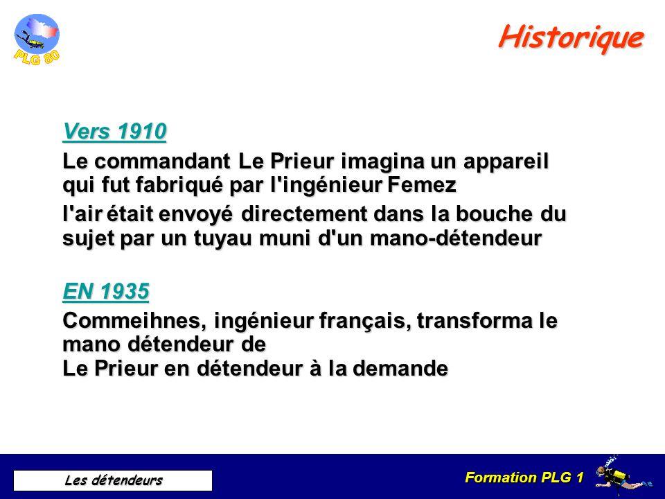 Historique Vers 1910. Le commandant Le Prieur imagina un appareil qui fut fabriqué par l ingénieur Femez.