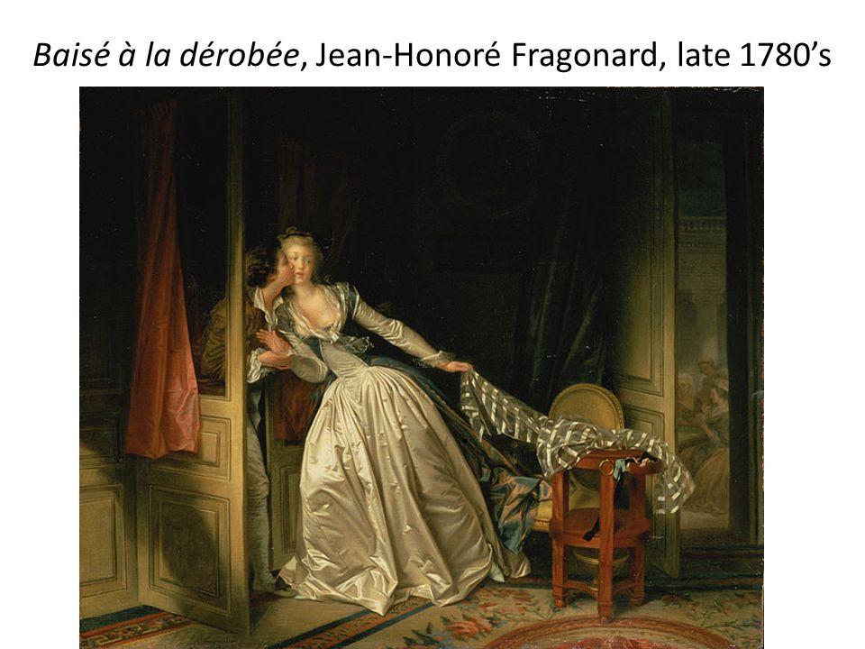 Baisé à la dérobée, Jean-Honoré Fragonard, late 1780's