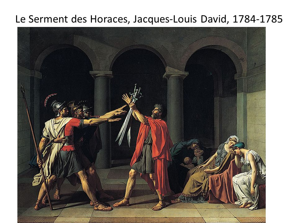Le Serment des Horaces, Jacques-Louis David,