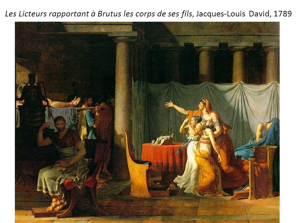 Les Licteurs rapportant à Brutus les corps de ses fils, Jacques-Louis David, 1789