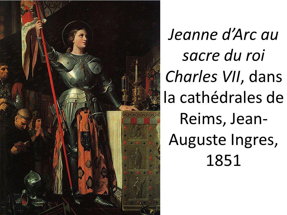 Jeanne d'Arc au sacre du roi Charles VII, dans la cathédrales de Reims, Jean-Auguste Ingres, 1851