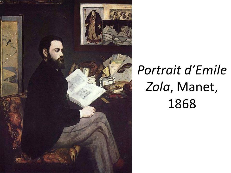 Portrait d'Emile Zola, Manet, 1868