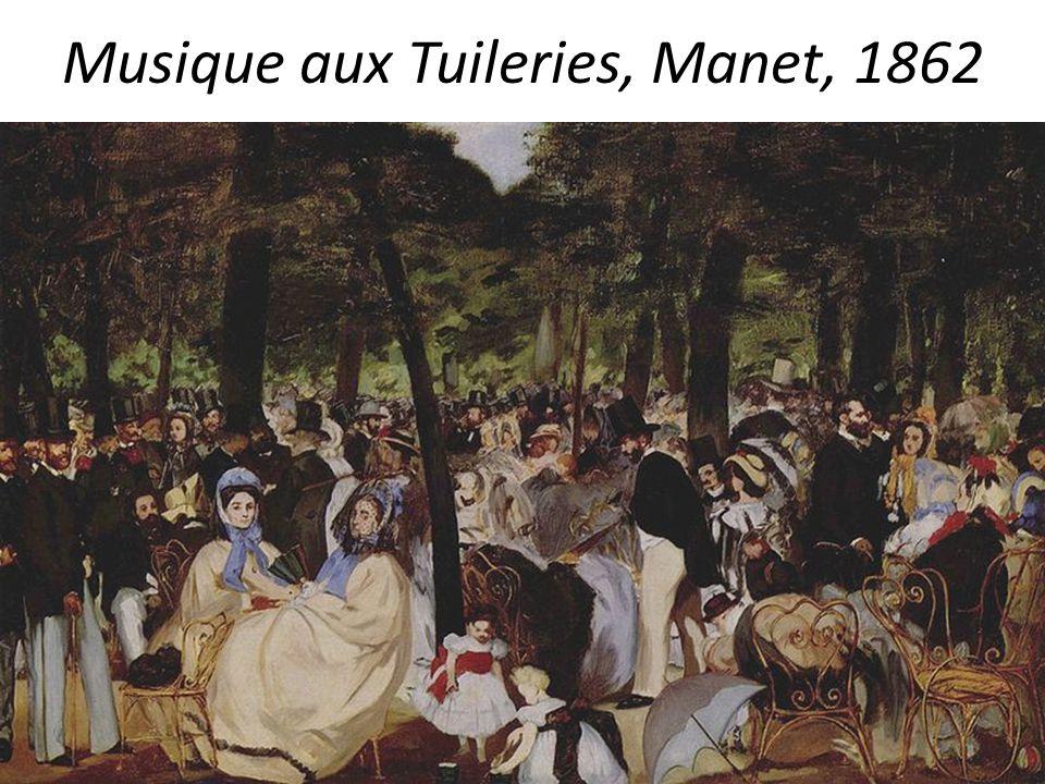 Musique aux Tuileries, Manet, 1862