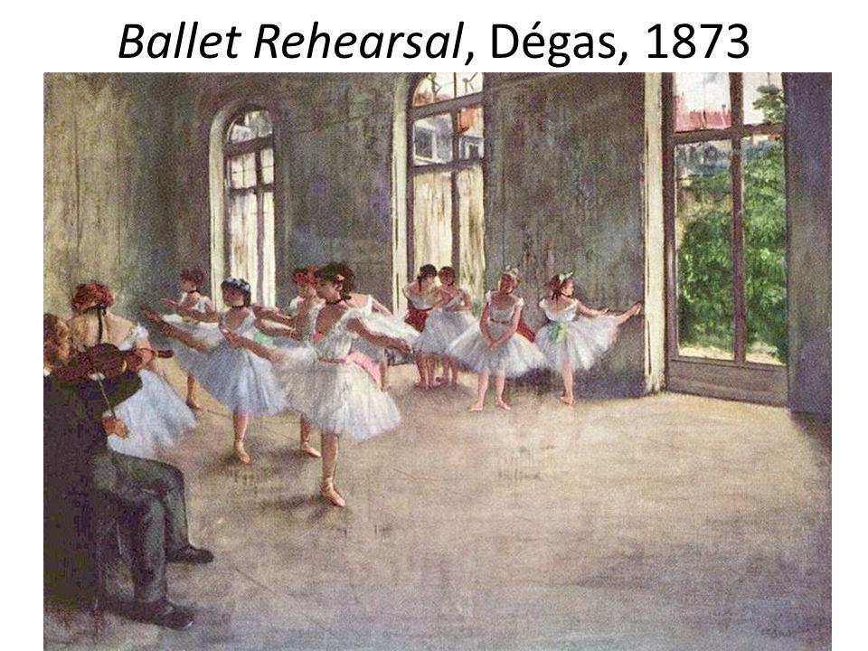 Ballet Rehearsal, Dégas, 1873