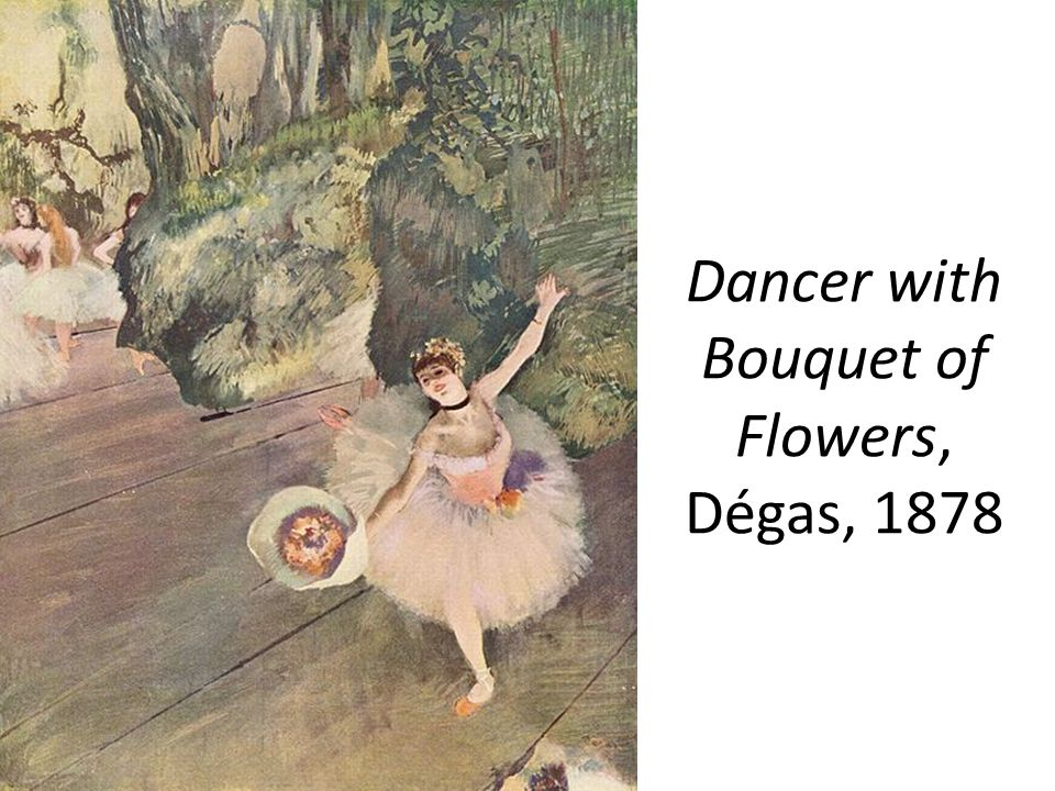 Dancer with Bouquet of Flowers, Dégas, 1878