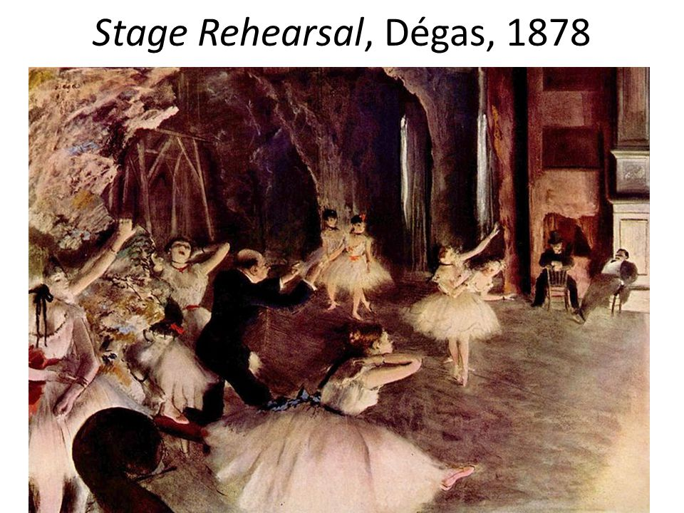 Stage Rehearsal, Dégas, 1878