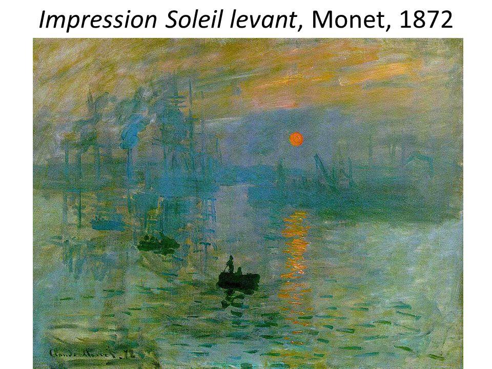 Impression Soleil levant, Monet, 1872