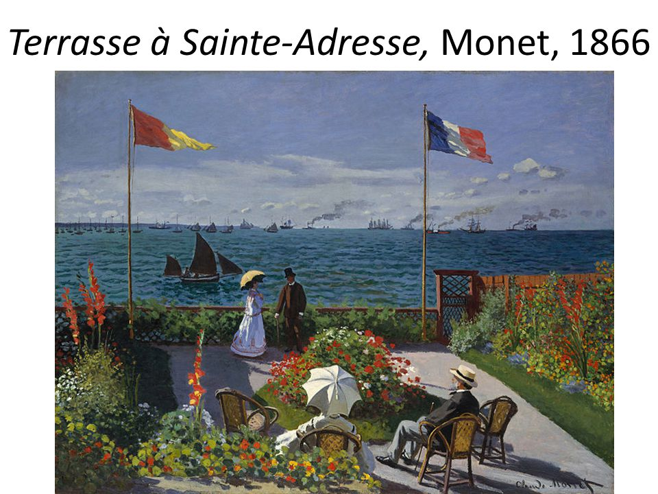 Terrasse à Sainte-Adresse, Monet, 1866