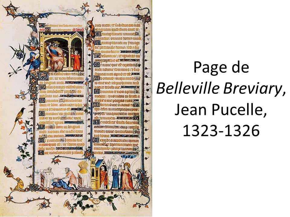 Page de Belleville Breviary, Jean Pucelle, 1323-1326
