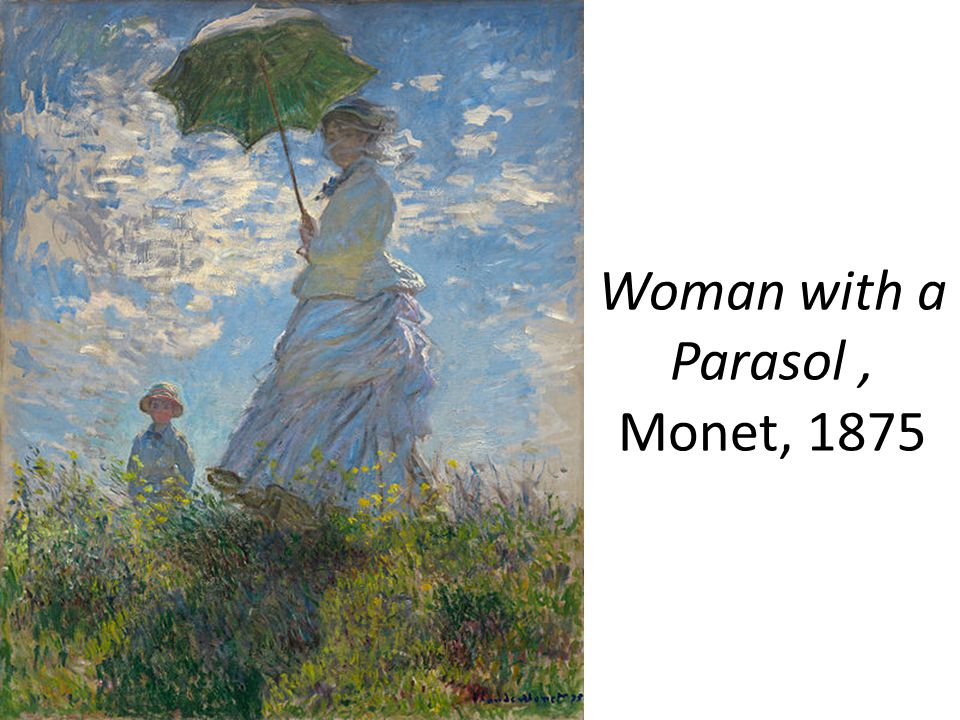 Woman with a Parasol , Monet, 1875