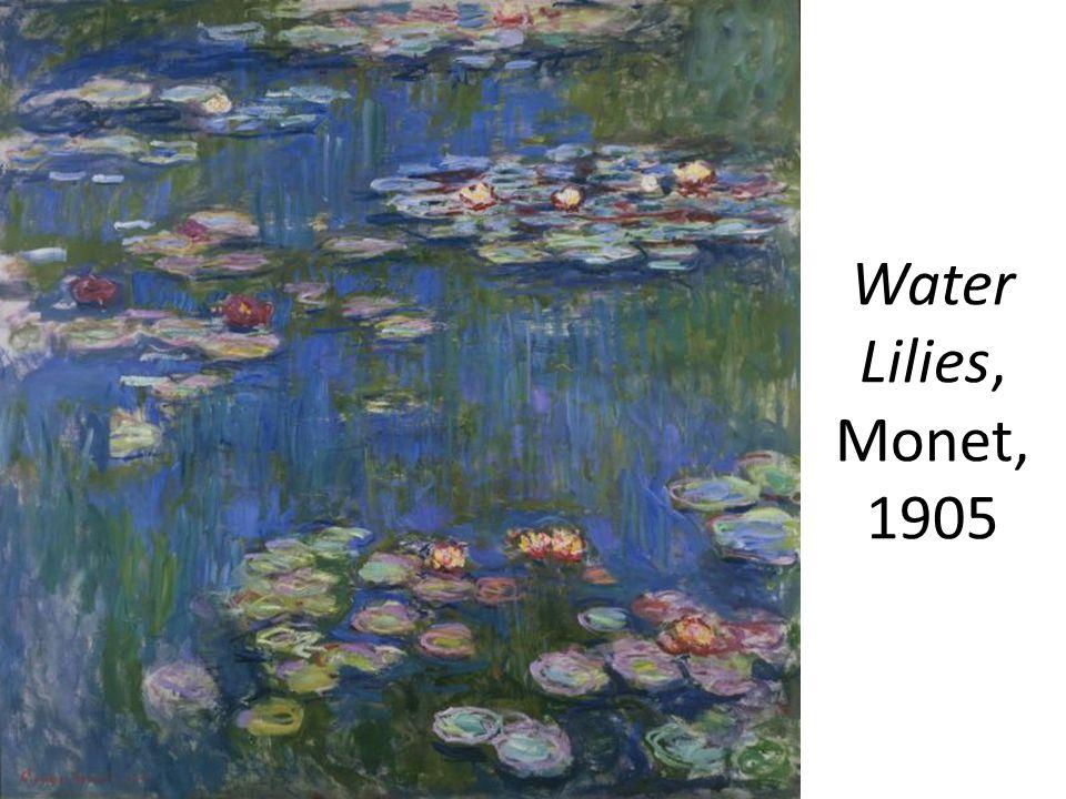 Water Lilies, Monet, 1905