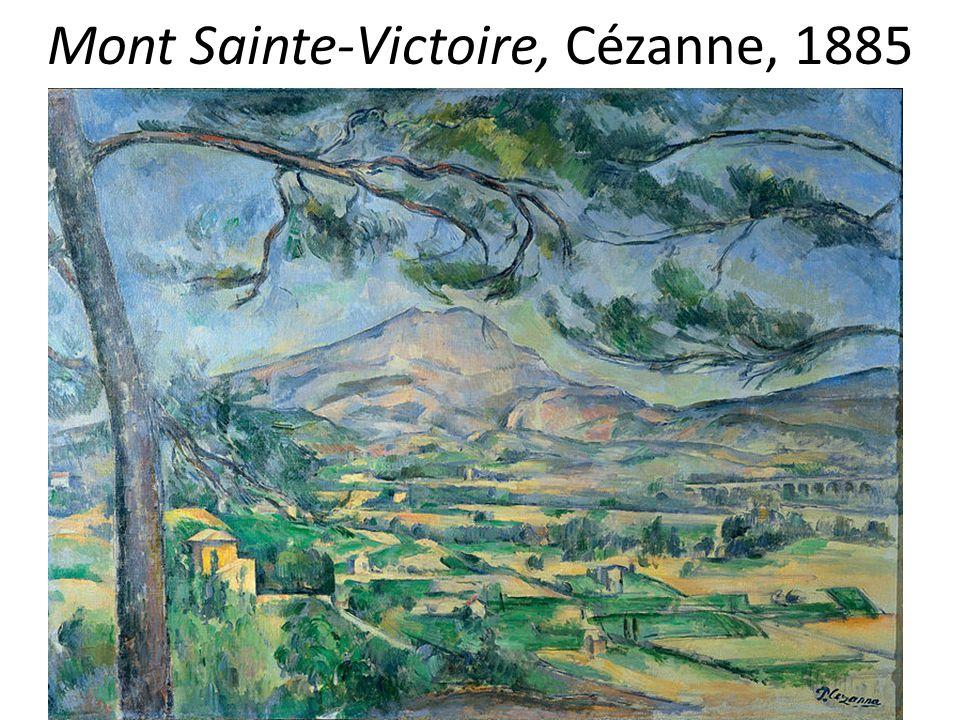 Mont Sainte-Victoire, Cézanne, 1885
