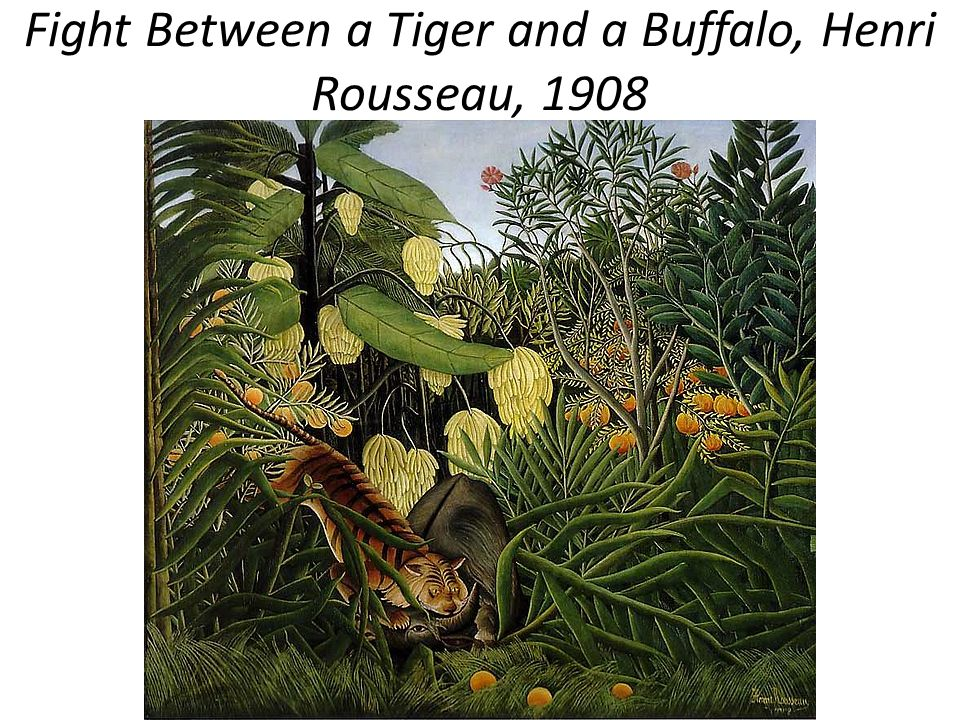 Fight Between a Tiger and a Buffalo, Henri Rousseau, 1908