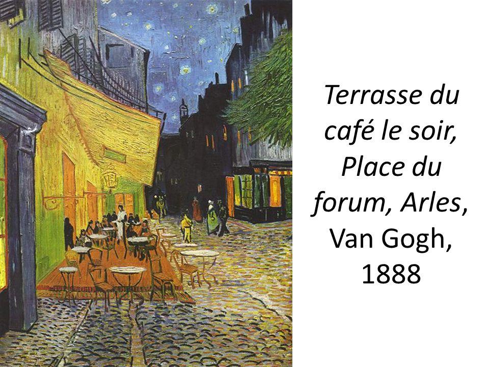 Terrasse du café le soir, Place du forum, Arles, Van Gogh, 1888