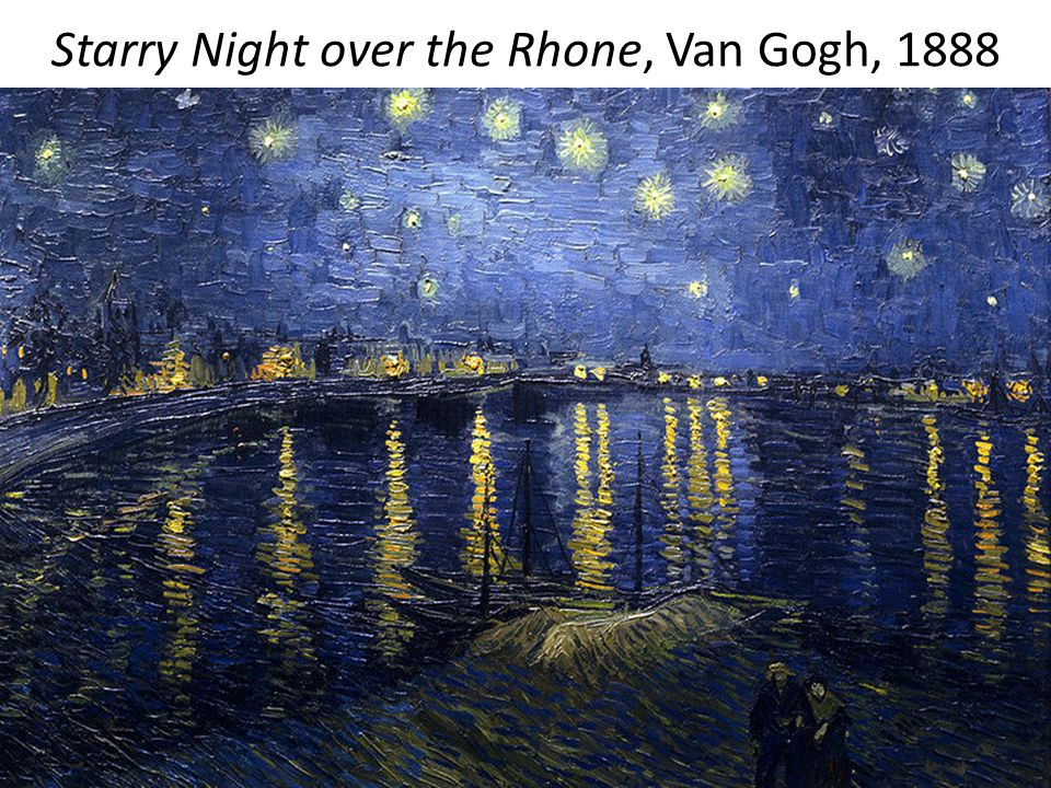Starry Night over the Rhone, Van Gogh, 1888