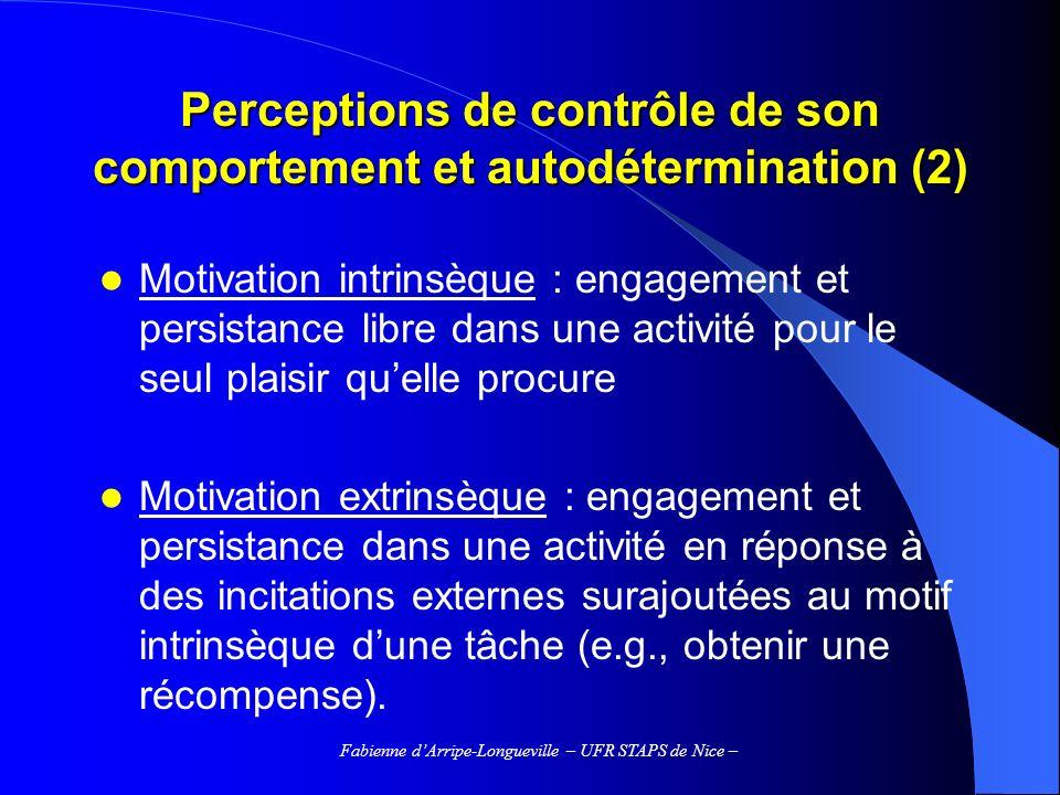 Perceptions de contrôle de son comportement et autodétermination (2)