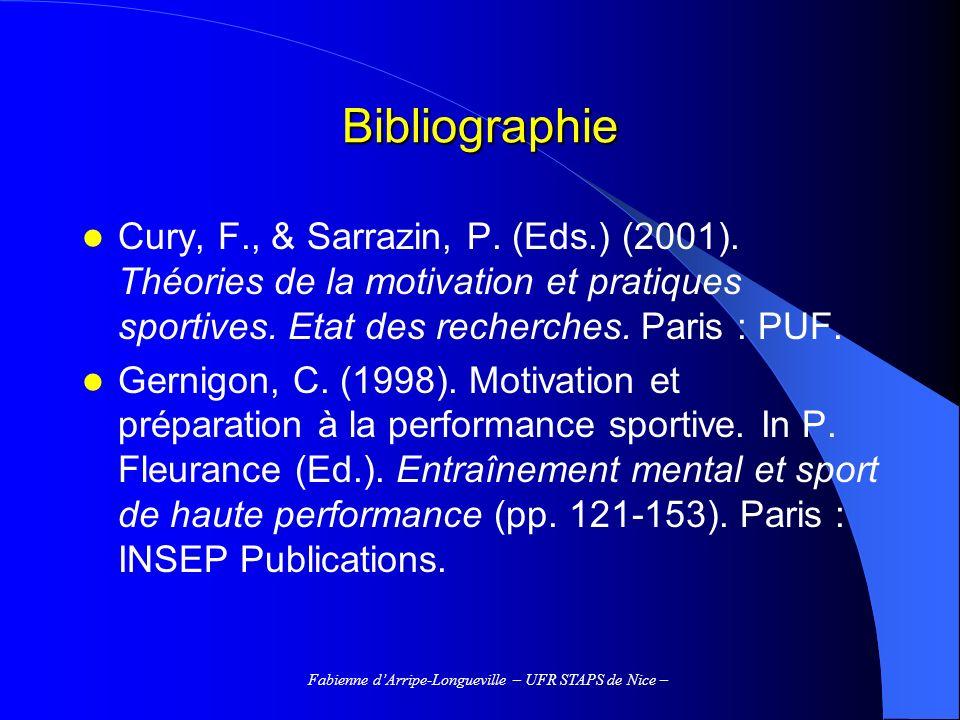 Fabienne d'Arripe-Longueville – UFR STAPS de Nice –