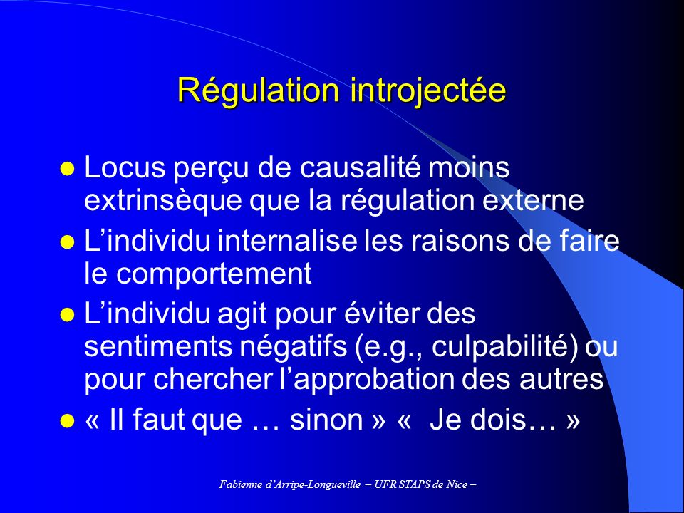 Régulation introjectée