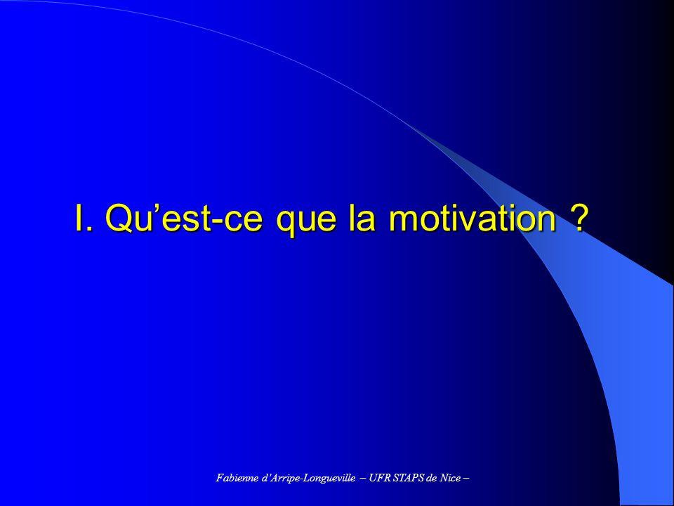 I. Qu'est-ce que la motivation