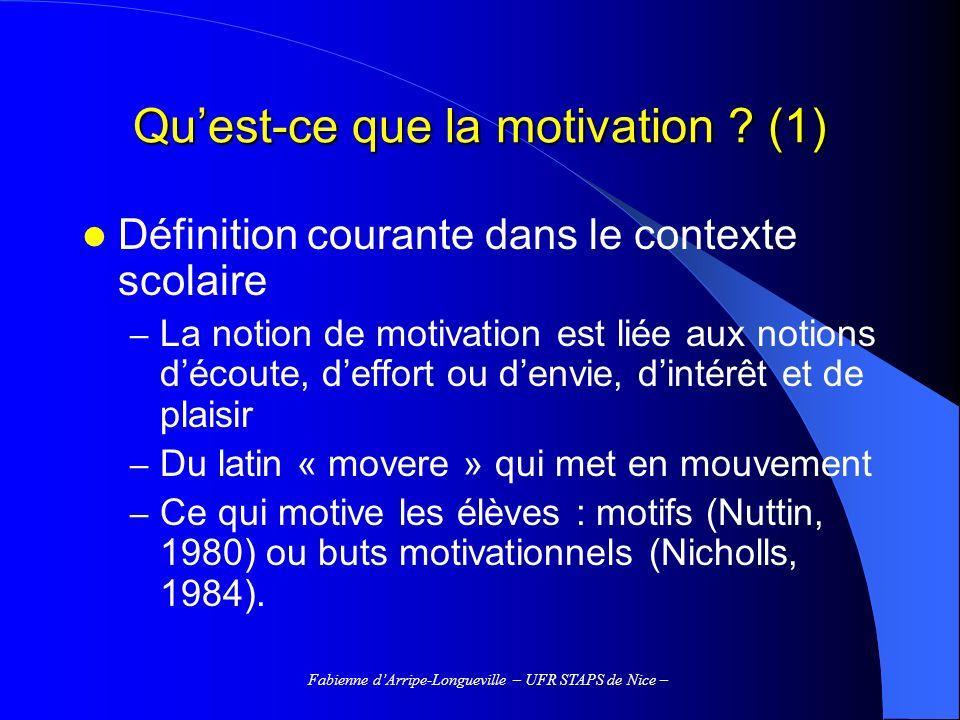 Qu'est-ce que la motivation (1)