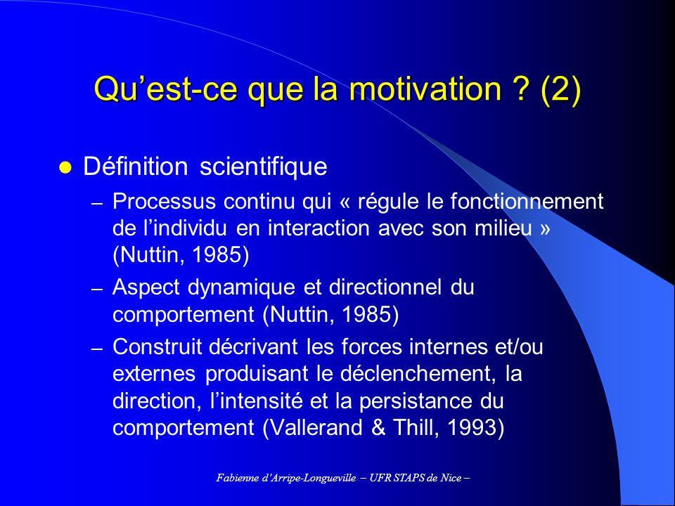 Qu'est-ce que la motivation (2)