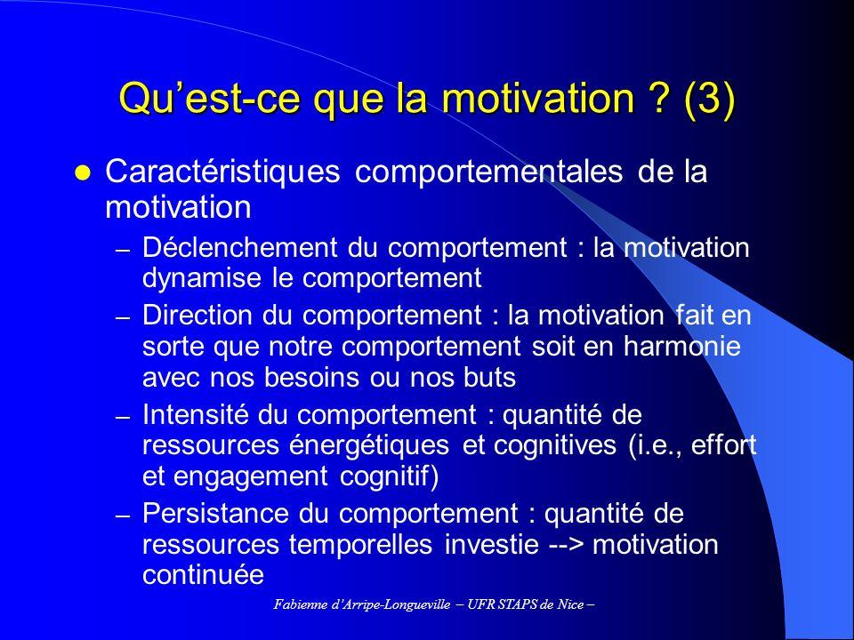 Qu'est-ce que la motivation (3)