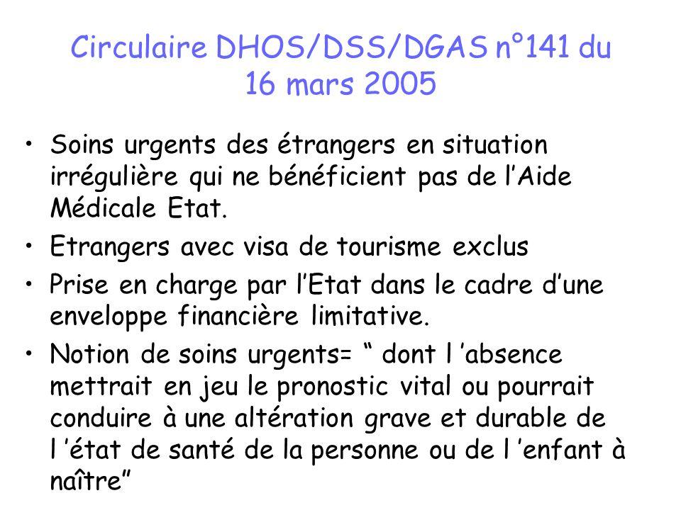 Circulaire DHOS/DSS/DGAS n°141 du 16 mars 2005