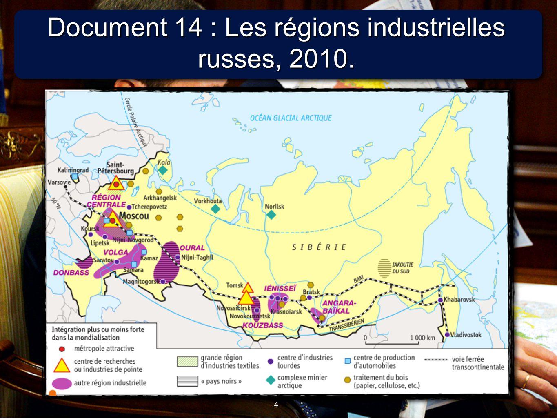 Document 14 : Les régions industrielles russes, 2010.