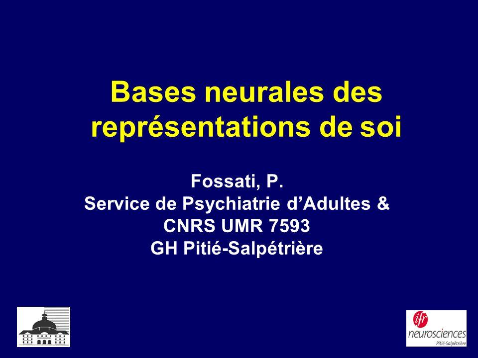 Bases neurales des représentations de soi