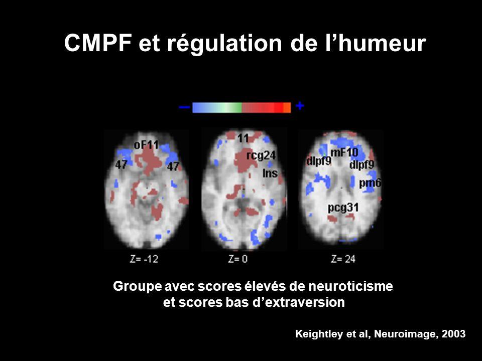 Groupe avec scores élevés de neuroticisme et scores bas d'extraversion