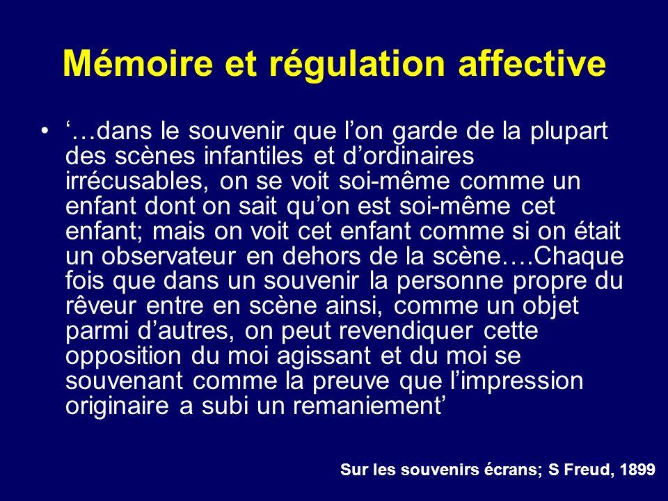 Mémoire et régulation affective