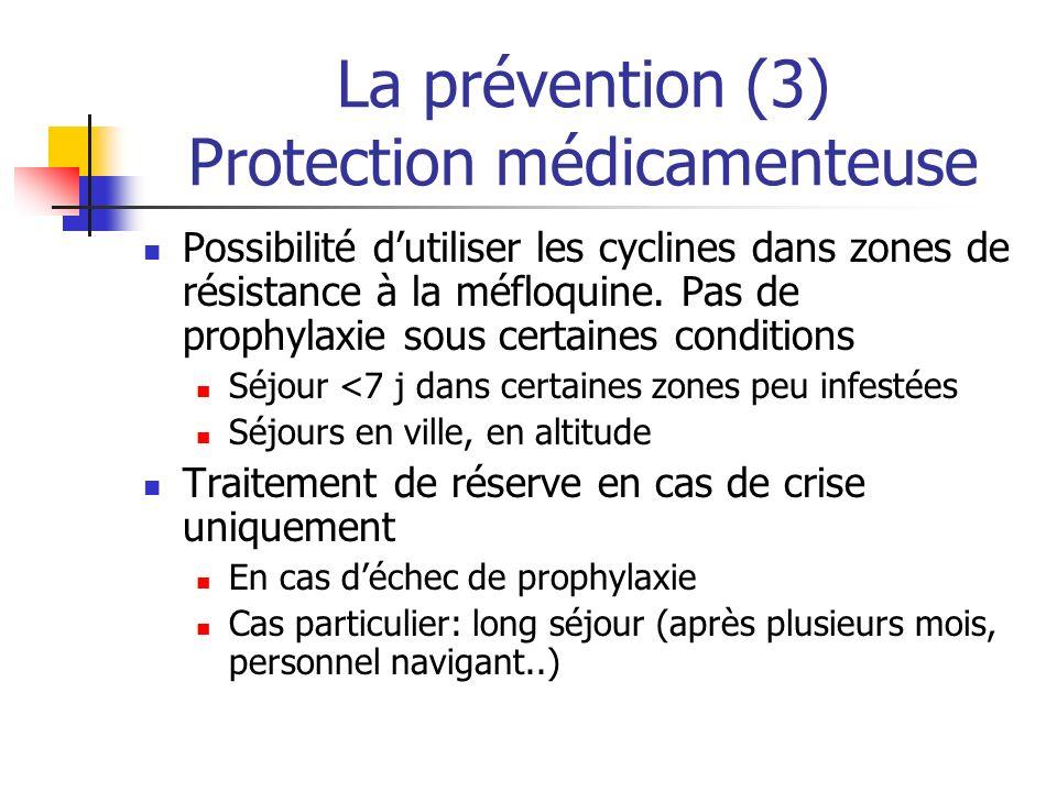 La prévention (3) Protection médicamenteuse