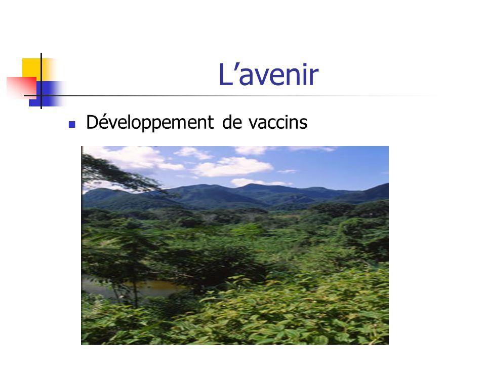 L'avenir Développement de vaccins