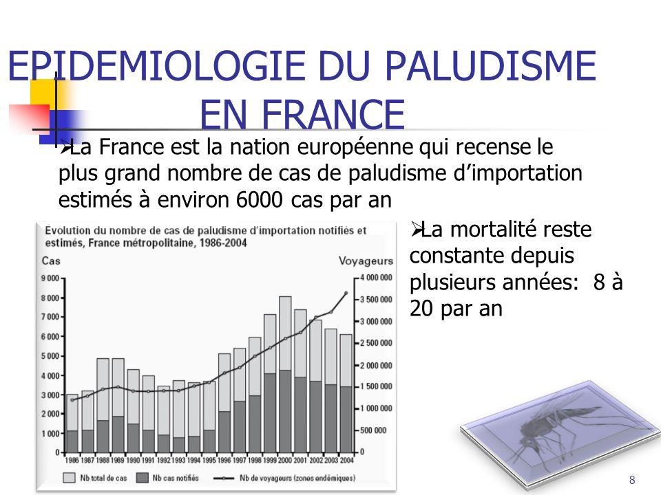 EPIDEMIOLOGIE DU PALUDISME EN FRANCE