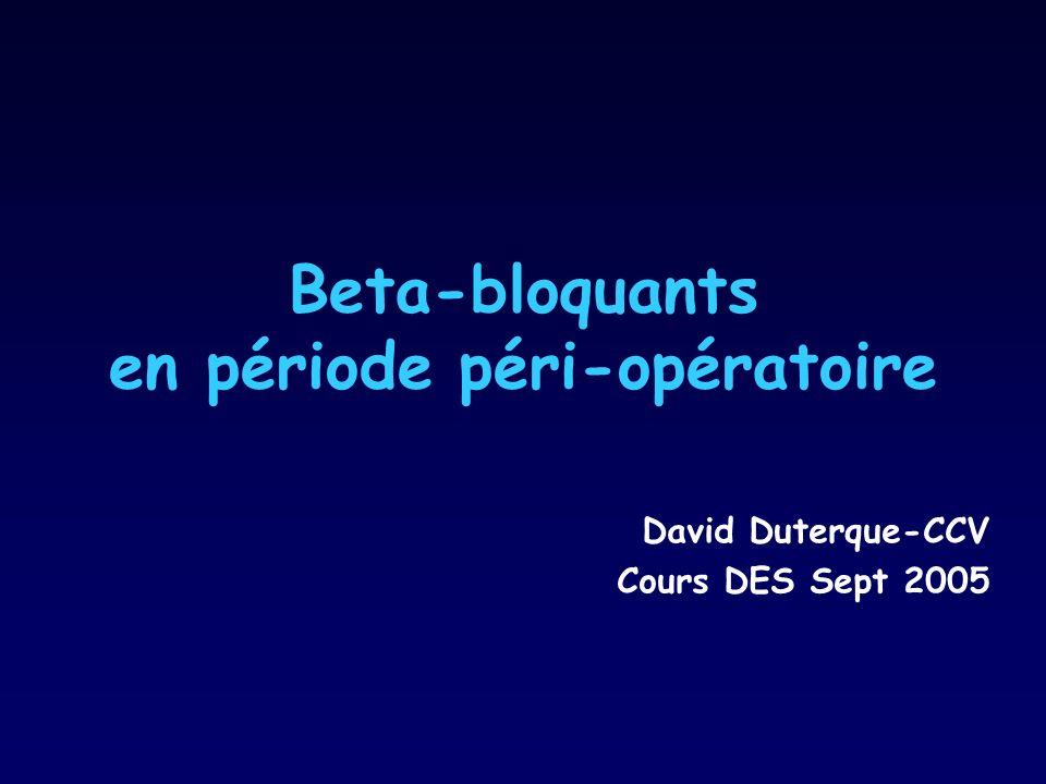 Beta-bloquants en période péri-opératoire