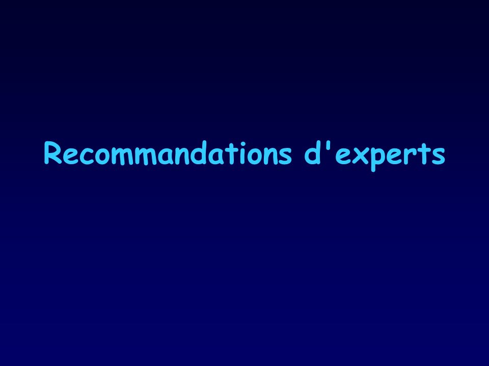 Recommandations d experts