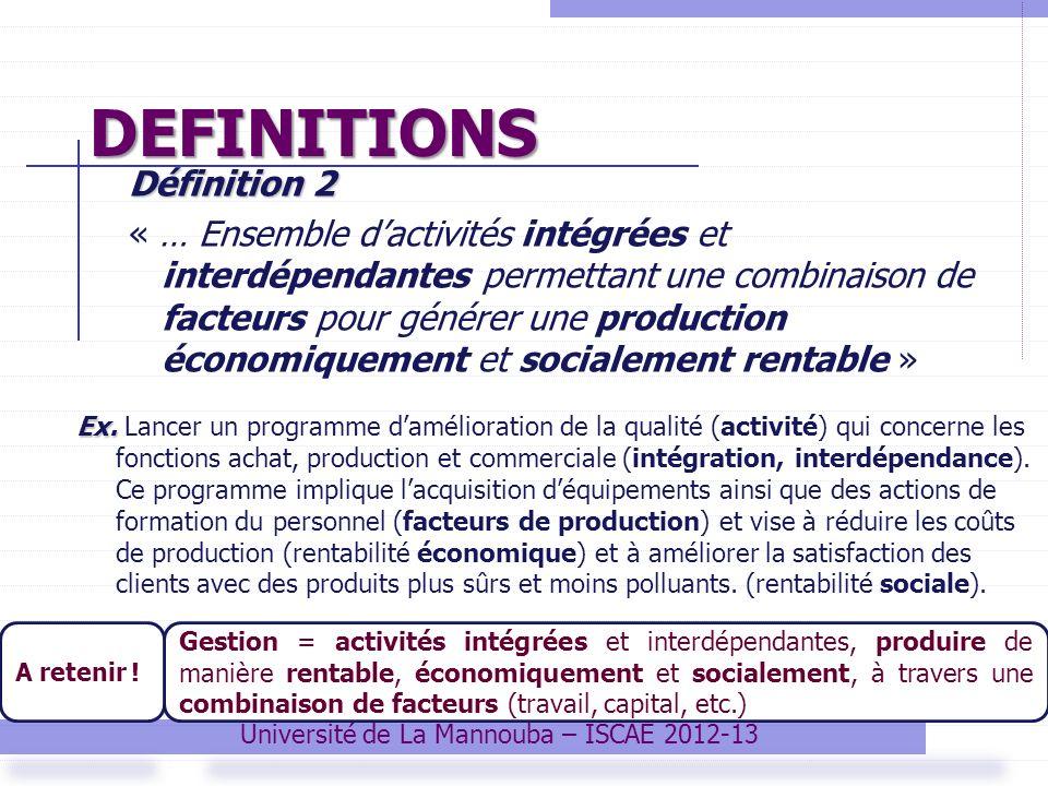Université de La Mannouba – ISCAE 2012-13