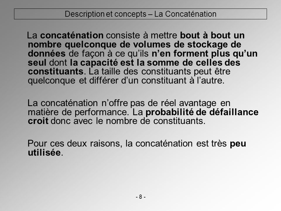 Description et concepts – La Concaténation