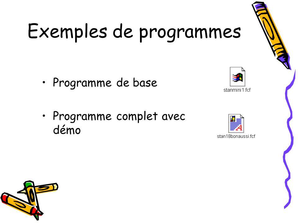 Exemples de programmes