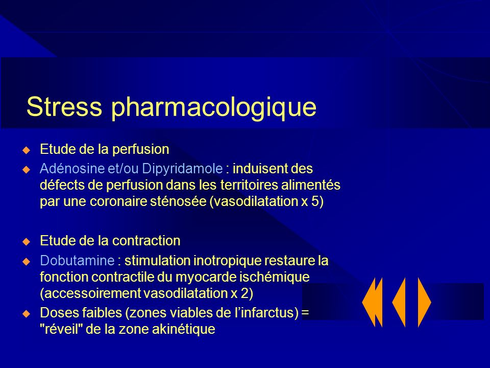 Stress pharmacologique