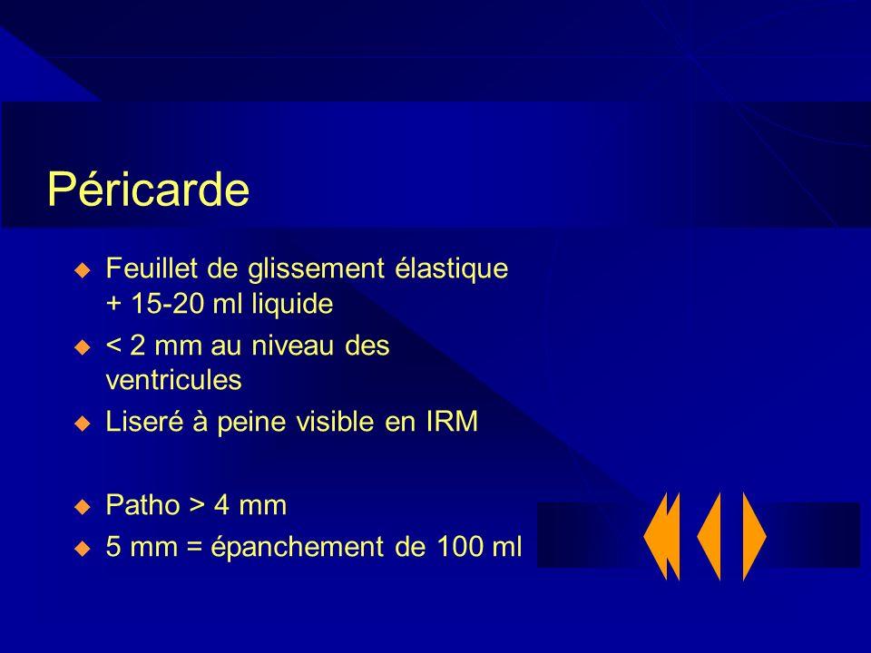 Péricarde Feuillet de glissement élastique + 15-20 ml liquide