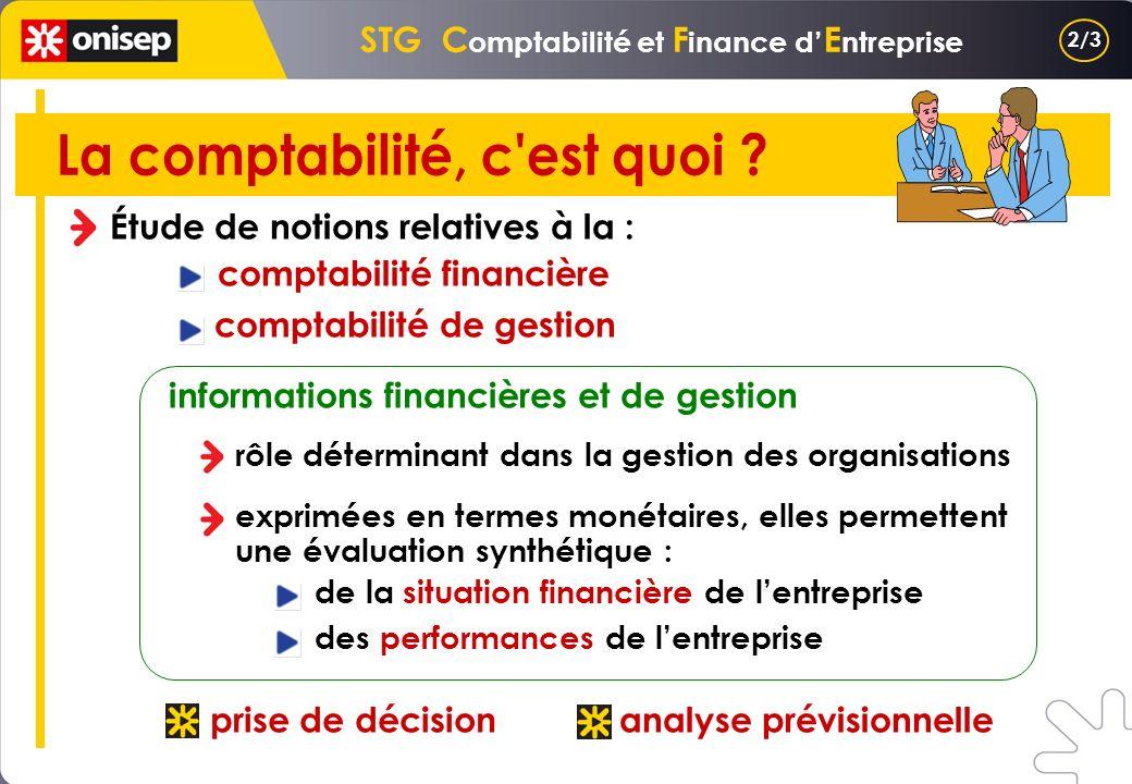 STG Comptabilité et Finance d'Entreprise La comptabilité, c est quoi
