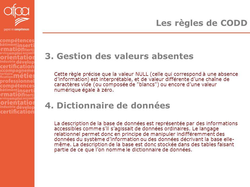 3. Gestion des valeurs absentes