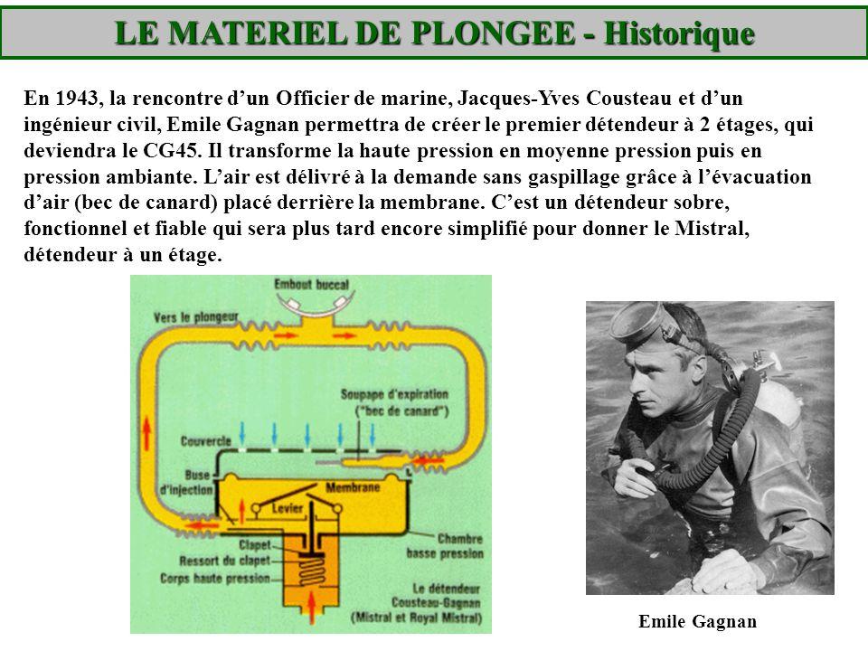 LE MATERIEL DE PLONGEE - Historique