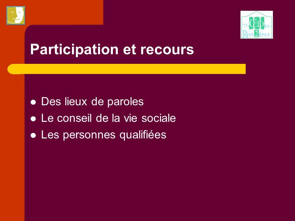 Participation et recours