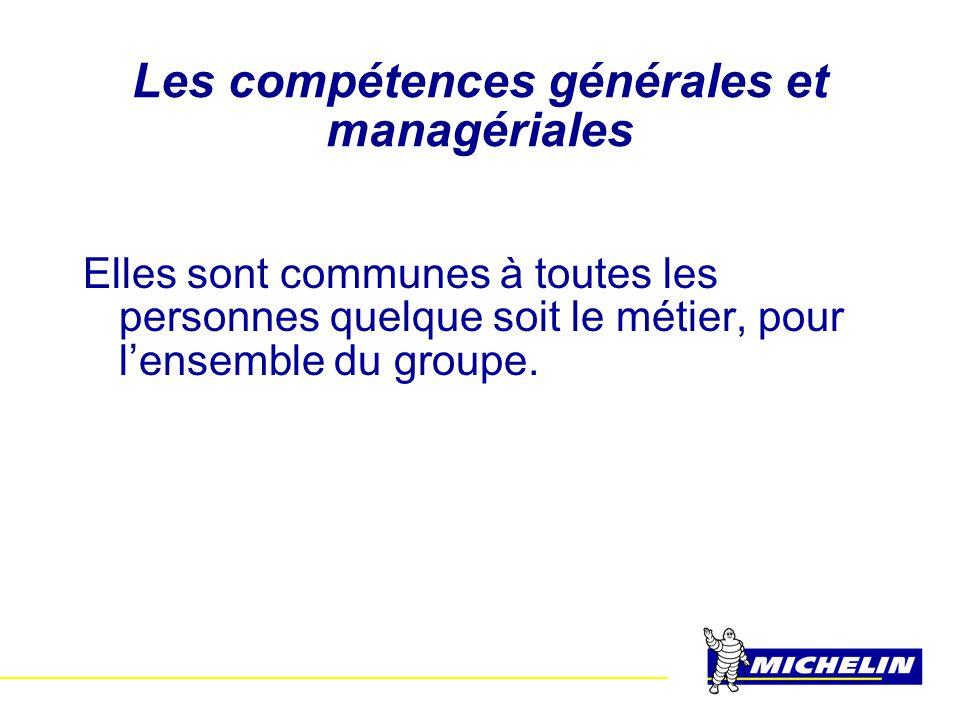 Les compétences générales et managériales