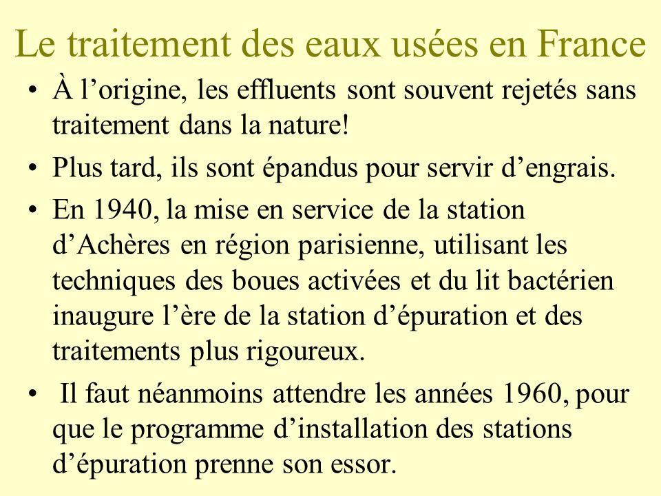 Le traitement des eaux usées en France