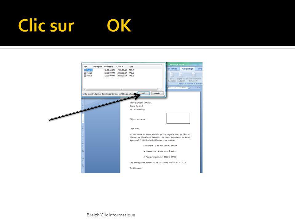 Clic sur OK Breizh Clic Informatique